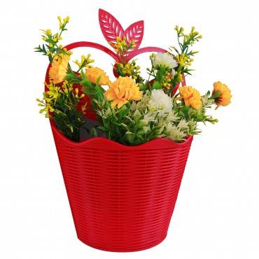 Artificial rose wall basket